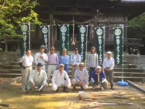 青筵神社清掃活動について