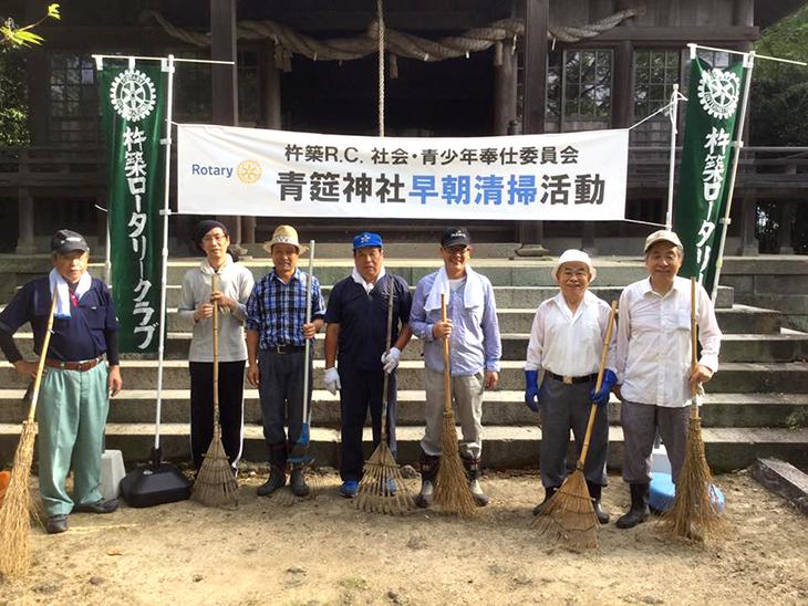 2016年夏 青筵(せいえん)神社早朝清掃活動の報告